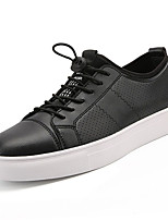 cheap -Men's Shoes PU Spring Fall Comfort Sneakers for Outdoor Black White