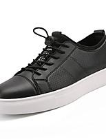 preiswerte -Herren Schuhe PU Frühling Herbst Komfort Sneakers für Weiß Schwarz