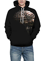 cheap -Men's Plus Size Daily Going out Vintage Hoodie Solid Hooded Hoodies Inelastic Cotton Acrylic Short Sleeve Winter Fall