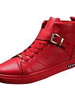 cheap -Men's Shoes Synthetic Microfiber PU Spring Fall Light Soles Sneakers for Casual Black Red