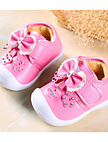 cheap -Baby Shoes Leatherette Spring Fall Comfort First Walkers Flats for Casual Pink Red
