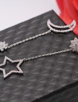 cheap -Women's Mismatch Earrings Rhinestone Rhinestone Silver Plated Jewelry Wedding Party Costume Jewelry