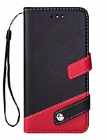 cheap -Case For OnePlus OnePlus 5T Card Holder with Stand Flip Full Body Solid Color Hard PU Leather for OnePlus 5T