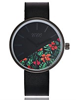 cheap -Women's Wrist watch Fashion Watch Chinese Quartz Large Dial Leather Band Casual Minimalist Black