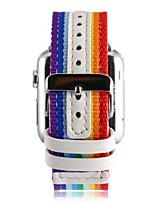 economico -Cinturino per orologio  per Apple Watch Series 3 / 2 / 1 Apple Custodia con cinturino a strappo Cinturino a maglia milanese Pelle Nylon