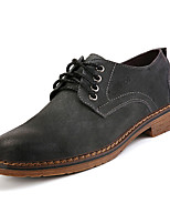 cheap -Men's Shoes Pigskin Spring Fall Comfort Oxfords for Outdoor Black Gray Brown