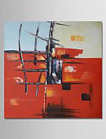economico -Dipinta a mano Astratto Quadrato, Contemporaneo Modern Hang-Dipinto ad olio Decorazioni per la casa Un Pannello