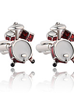 cheap -Geometric Red Cufflinks Alloy Formal Fashion Elegant Wedding Evening Party Men's Costume Jewelry