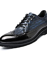 cheap -Men's Shoes Synthetic Microfiber PU Spring Fall Driving Shoes Formal Shoes Oxfords for Office & Career Party & Evening Black/Blue