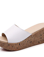 economico -Da donna Scarpe PU (Poliuretano) Estate Comoda Pantofole e infradito Ballerina Occhio di pernice per Casual Bianco Nero Blu