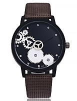 cheap -Women's Wrist watch Fashion Watch Chinese Quartz Large Dial Leather Band Casual Minimalist Black Brown Beige