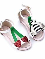 abordables -Fille Chaussures Vrai cuir Printemps Eté Confort Sandales pour Décontracté Blanc Jaune