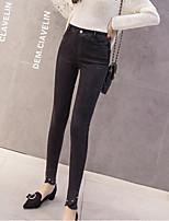 preiswerte -Damen Undurchsichtig Baumwolle Solide Einfarbig Legging,Schwarz