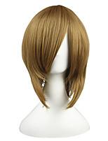 Недорогие -жен. Парики из искусственных волос Короткий Естественные прямые Бежевый Парики для косплей Парики к костюмам