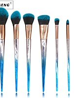 cheap -7 pcs Foundation Brush Powder Brush Lip Brush Eyeshadow Brush Blush Brush Makeup Brush Set Synthetic Hair Nylon Professional Soft Travel