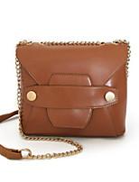 cheap -Women Bags PU Shoulder Bag Buttons for Casual All Season Dark Brown Brown Black