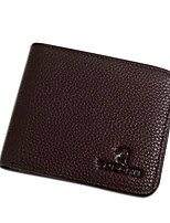 cheap -Men Bags Cowhide Wallet Pockets for Shopping Casual All Seasons Coffee