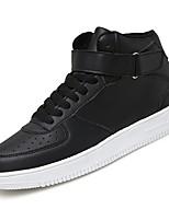 Недорогие -Для мужчин обувь Полиуретан Весна Осень Удобная обувь Кеды для Повседневные Белый Черный Черно-белый