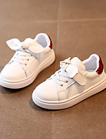 cheap -Girls' Shoes Real Leather Spring Fall Comfort Sneakers for Casual Pink Red Black