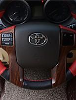 Недорогие -автомобильный руль декор рама diy автомобильные интерьеры для toyota 2010 2011 2012 2013 2014 2015 2016 prado plastic