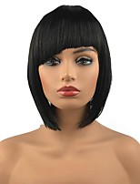 cheap -Synthetic Hair Wigs Straight Capless Celebrity Wig Natural Wigs Cosplay Wig Medium Black
