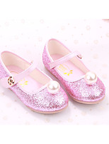 cheap -Girls' Shoes PU Spring Fall Comfort Flower Girl Shoes Flats for Casual Pink Blue White