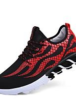 Недорогие -Муж. обувь Тюль Весна Осень Удобная обувь Кеды для Повседневные на открытом воздухе Оранжевый Светло-Розовый