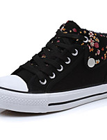 cheap -Women's Shoes Canvas Spring Fall Comfort Sneakers Flat for Casual Blue Red Black