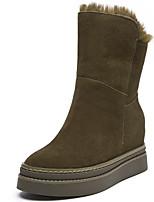 preiswerte -Damen Schuhe Pelz Winter Herbst Modische Stiefel Springerstiefel Stiefel Creepers Mittelhohe Stiefel für Normal Party & Festivität