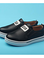 cheap -Boys' Shoes Real Leather Spring Fall Comfort Loafers & Slip-Ons for Casual Burgundy Black