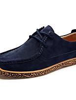 cheap -Men's Shoes PU Spring Fall Comfort Oxfords for Outdoor Burgundy Khaki Dark Blue