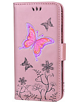 cheap -Case For Huawei P9 Lite Huawei Huawei P8 Lite P8 Lite (2017) P10 Lite Card Holder Wallet with Stand Pattern Embossed Full Body Cases