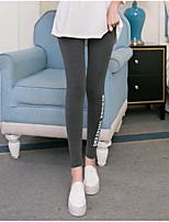 preiswerte -Damen Stilvoll Mittel Polyester Solide Einfarbig Legging,Schwarz Rote Dunkelgray Grau