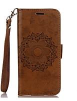 Недорогие -Кейс для Назначение SSamsung Galaxy S8 Plus S8 Бумажник для карт Кошелек со стендом Флип Рельефный Чехол Мандала Твердый Искусственная