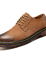 cheap -Men's Shoes Pigskin Nappa Leather Spring Fall Comfort Oxfords for Casual Black Brown Camel