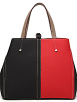 cheap -Women Bags PU Polyester Tote Zipper for Casual All Season Brown Red