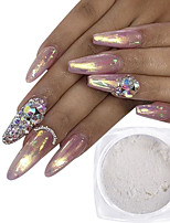 baratos -1pç Brilho & Glitter Glitter Powder Padrão Branco