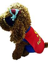 economico -Cane Gilè Abbigliamento per cani Alla moda Stola inclusa Lettere & Numeri Blu Costume Per animali domestici
