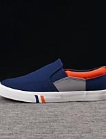 Недорогие -Муж. обувь Полотно Весна Осень Удобная обувь Мокасины и Свитер для Повседневные Темно-синий