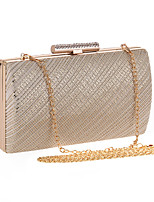cheap -Women's Ladies' Bags Metal Evening Bag Crystal Detailing for Wedding Event/Party All Season Silver Gold