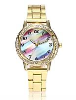 Недорогие -Жен. Модные часы Нарядные часы Наручные часы Китайский Кварцевый Повседневные часы Имитация Алмазный сплав Группа На каждый день