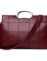 cheap -Women Bags PU Tote Zipper for Casual Outdoor Winter Fall Wine Dark Grey Black Champagne