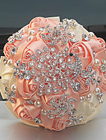 """Недорогие -Свадебные цветы Букеты Свадьба Бусины Стразы Satin Около 15 см 9,06""""(около 23см)"""