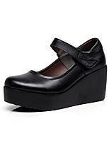 cheap -Women's Shoes Microfibre Spring Fall Basic Pump Heels Wedge Heel for Casual Office & Career Black