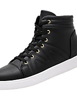 cheap -Men's Shoes Synthetic Microfiber PU Spring Fall Comfort Sneakers for Casual Black White
