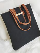 cheap -Women Bags PU Tote Zipper for Casual All Season Wine Brown Gray Black Green