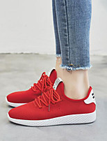 cheap -Women's Shoes Tulle Summer Comfort Sneakers Flat Heel Closed Toe for Casual Outdoor Black Red