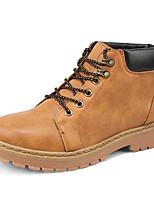 Недорогие -Муж. Комфортная обувь Полиуретан Наступила зима Английский Ботинки Нескользкий Ботинки Черный / Коричневый / Желтый