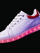 economico -Scarpe PU (Poliuretano) Primavera Autunno Scarpe luminose Comoda Sneakers per Casual Nero Rosso