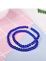 cheap -DIY Jewelry 65 pcs Beads Resin Gray Purple Red Green Blue Round Bead 0.4 cm DIY Necklace Bracelet
